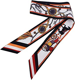 Scarf for Women Bag Accessory Head Wrap Hair Neckerchief Tie Handle Ribbon Gifts