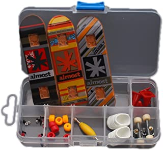 Diy Skateboard Playset Finger Board Sets with Nuts Trucks Tool Kit Packaged in Box for Kids C