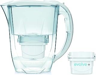 Aqua Optima Fridge Water Filter Jug for Reduction of microplastics, Chlorine, limescale and impurities, White, 2.8L