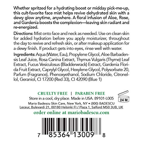 Mario Badescu Facial Spray Herbs/Rosewater and Cucumber/Green Tea, 4 Fl Oz (Pack of 2) 4