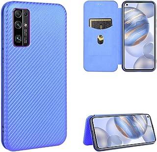 BAIYUNLONG Funda Protectora, For Huawei Honor magnética Vuelta Horizontal de Cuero del Caso 30 de Fibra de Carbono Textura...
