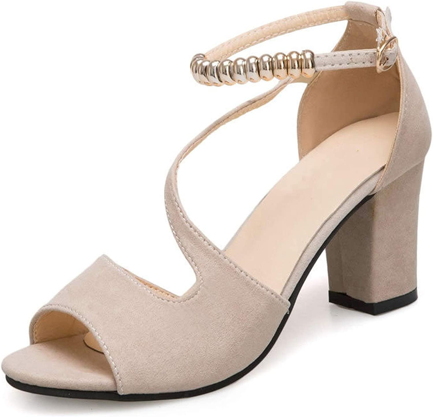 Ankle Strap Heels Women Sandals Women Open Toe Chunky Thick High Heels Party Dress shoes