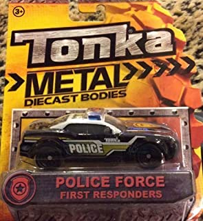 Tonka Metal Diecast Bodies – First Responders Police Force Cruiser 1:55 scale