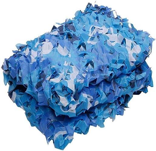 Ljdgr Filet Camo Visière Extérieure GR 210D Oxford Tissu Net Camouflage Net Camping en Plein Air Piscine Décoration Marine Bleu Camouflage Net (Taille  3x6M) Armée Camo Filet (Taille   2x8m)