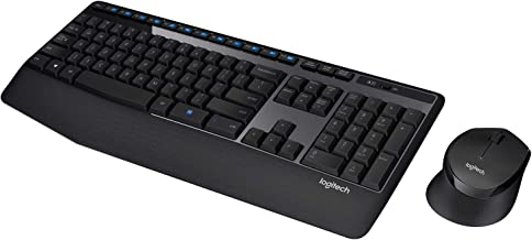 Logitech MK345 Wireless Keyboard and Mouse Combo (Black)