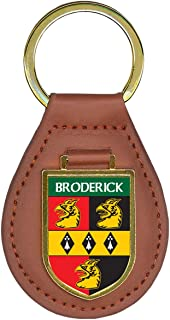 Broderick Family Crest Coat of Arms Lot of Total Key Chains
