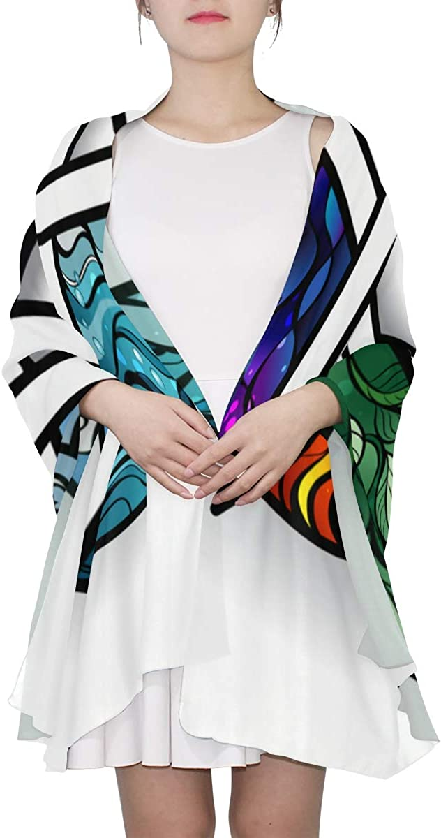 Magic Pentagon With Angles Unique Fashion Scarf For Women Lightweight Fashion Fall Winter Print Scarves Shawl Wraps Gifts For Early Spring