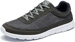 Men Breathable Super Lightweight Men Casual Shoes(Gray,14)