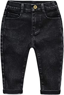 HOSD Boys Jeans Girls Stretch Jeans Pantalones de Punto Estampados