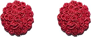Savage X Fenty Women's Reg Rosette Heart Pasties, Goji Berry Red, One Size