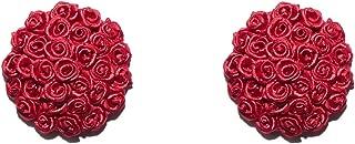 Savage X Fenty Women's Reg Rosette Heart Pasties, Goji Berry Red, One Size