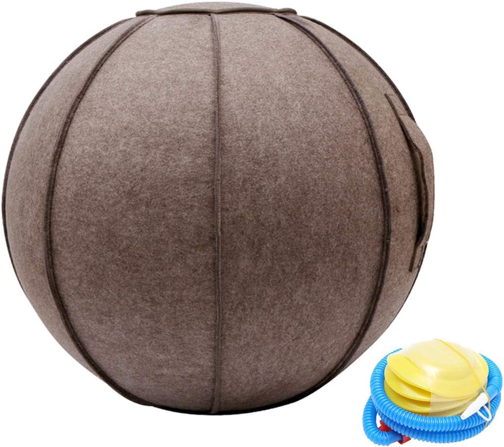 Stability and Fitness Fitness Ball Birthing Pregnancy Ball Exercise Ball Chair for Home with Handle and Cover Includes Exercise Ball and Pump 65 cm//25.6 inch Diameter Office Pilates Yoga
