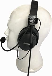 UFQ AV Mike-1 Aviation Headset Microphone Cable Harness Suit for Bose QC25 QC35 Sony MDR 1000X Free with a Headset Bag Also with MP3 Input Compare with U Fly Mike