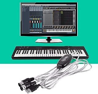 HOUSE CLOUD Câble USB vers Midi 6 F 2 m – Adaptateur interface USB vers Midi Entrée-Sortie Convertisseur Musique Clavier P...