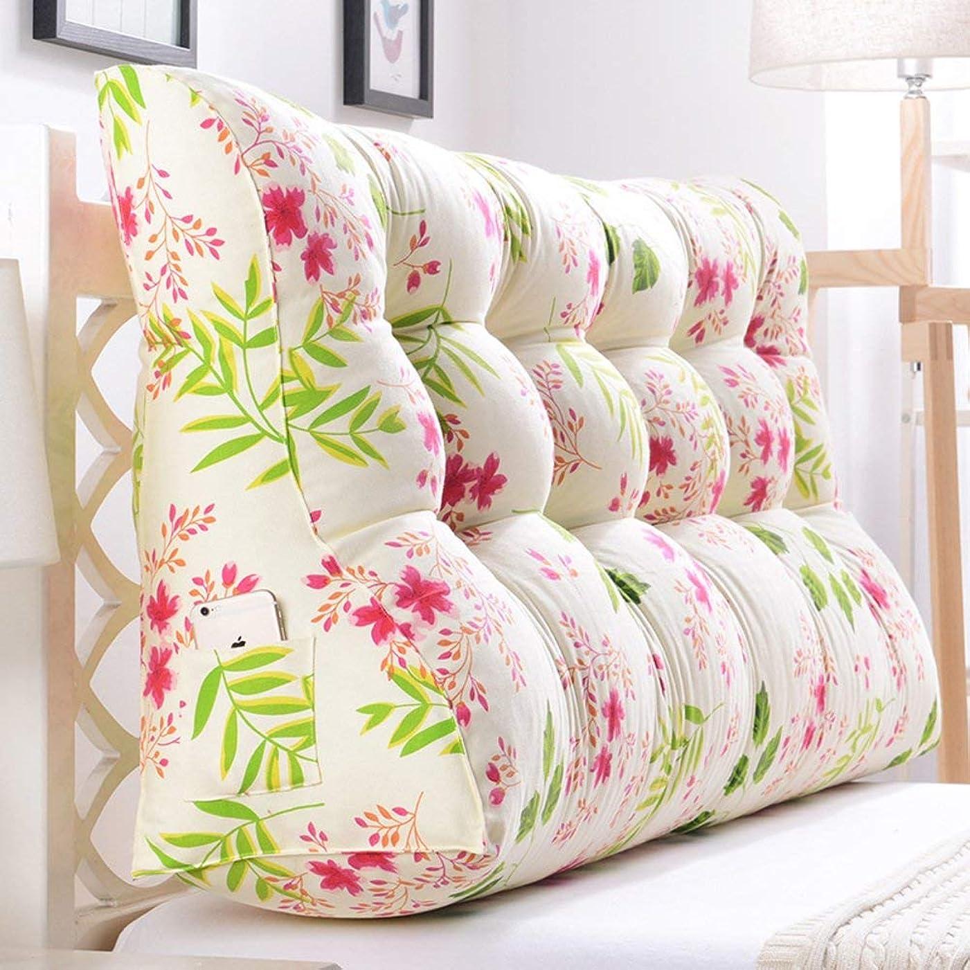 変なサロン使用法2J-QingYun Trade 三角ウェッジ、ベッドサイドバッククッション枕マットクッションウエストクッションソファバッククッションソフトロールウエスト (Color : M, サイズ : 60x30x90cm(24x12x35inch))