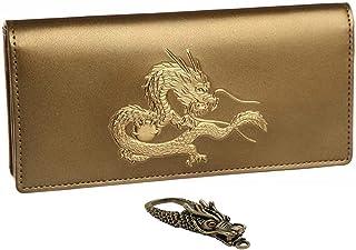 皇帝龍 長財布 風水 秘伝 金運 アップ 22金箔 龍神 和柄 メンズ ウォレット 日本製