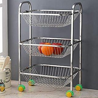 Oc9 Stainless Steel Fruits/Vegetables Trolley 3 Shelf