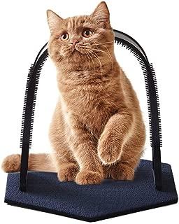 Perktail Plastic Cat Self Grooming Scratcher Rubbing Device Cat Back Scratching Arch Self-Groom Pet Hair