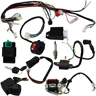 Wire Harness Assembly Wiring Kit Fits GY6 150cc//50-125cc Quad//CG150cc Go Kart