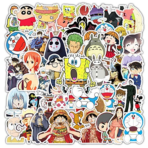 Anime cartoon laptop mobiele telefoon tablet skateboard bagage tij merk waterdichte hand verwijderbare account sticker 50 STKS