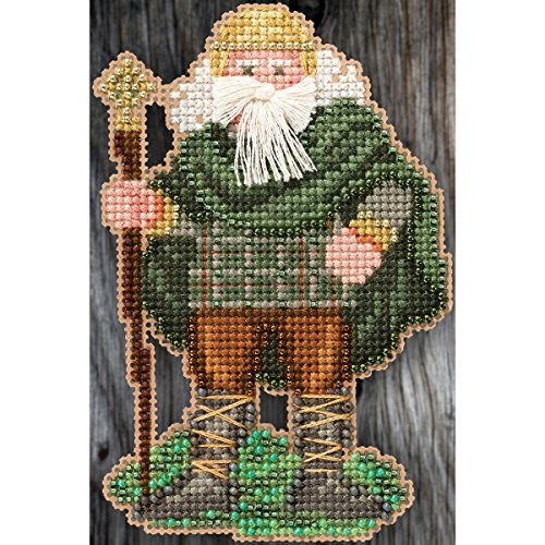 Ireland Santa Beaded Counted Cross Stitch Christmas Ornament Kit Mill Hill 2015 Celtic Santas MH205303