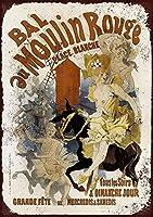 French Moulin Rouge メタルポスター壁画ショップ看板ショップ看板表示板金属板ブリキ看板情報防水装飾レストラン日本食料品店カフェ旅行用品誕生日新年クリスマスパーティーギフト