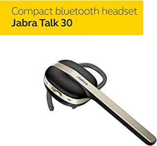 Jabra Talk 30 Talk Bluetooth Mono Headset with High Definition Hands-Free Calls in a Stylish Design and Streaming Multimedia, Black