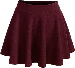 Women's Plus Size Stretchy Elastic Waist Flared Casual Mini Skater Skirt
