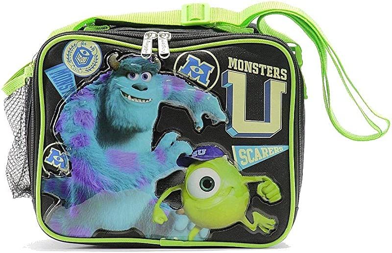 Disney Pixar S Monsters University Scarers Black Green Lunch Bag BP5230