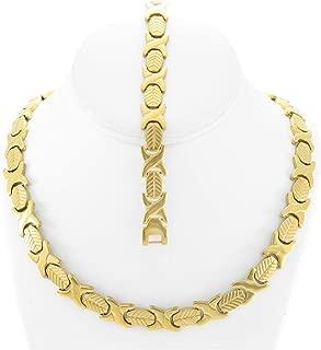 Best tri color necklace set Reviews