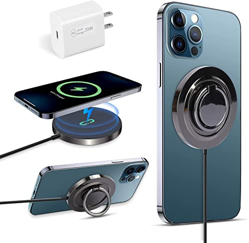 new arrival Wireless Charger, 15W Magnetic Wireless Charging Pad Compatible with iPhone 12/12 Mini/12 Pro/12 Pro Max high quality new arrival Series, Hands Free Fast Charging Stand with USB-C Quick Wall Charger, Other Phone Stand online sale