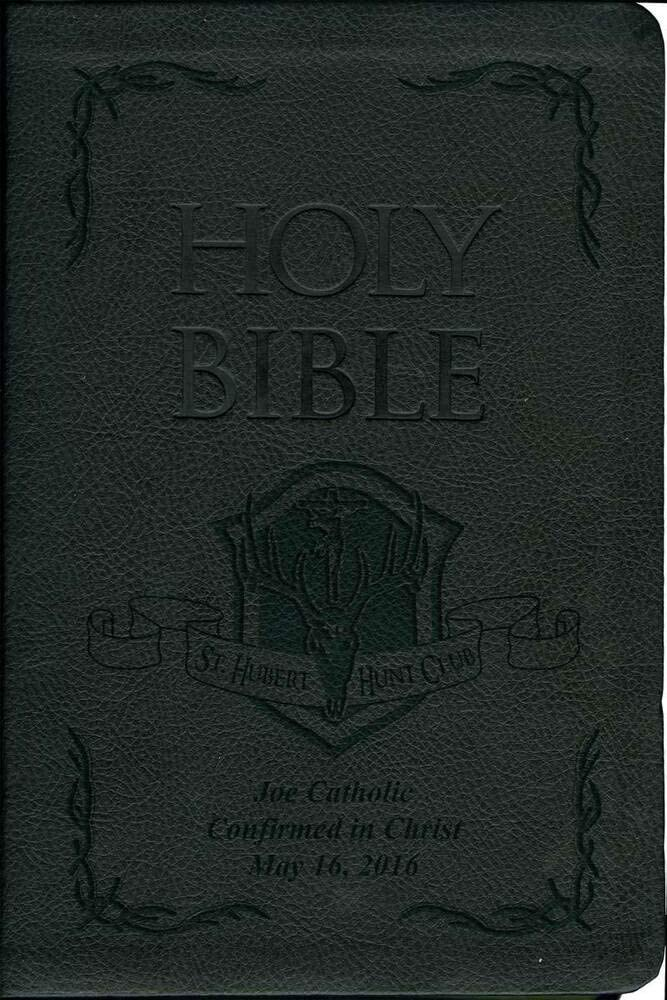 Hail Mary Gifts Laser Year-end annual account Embossed Catholic 70% OFF Outlet Bible Hubert St. with Hu