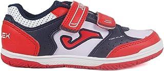 Zapatillas Fútbol Infantiles para niño Joma Top Flex Jr 820 Blanco-Rojo Velcro Indoor