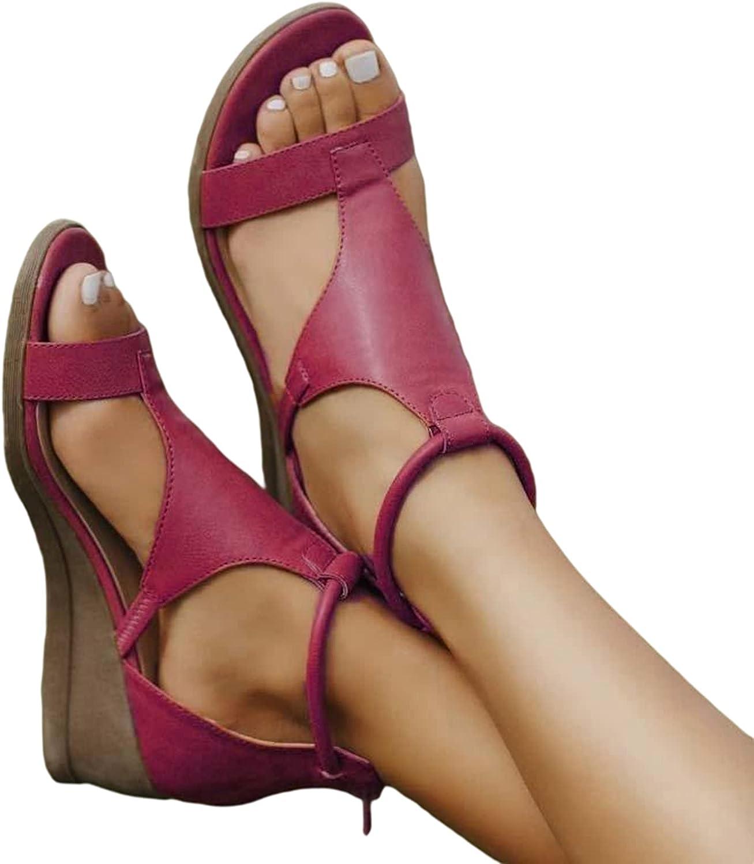 ZBRO Women's Sandal Comfort Slides Beach Shoes Buckle Design Summer Beach Shoes for Outdoor