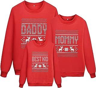 Reindeer Christmas Family Sweatshirt Long Sleeve Snowflake Top Shirts for Women