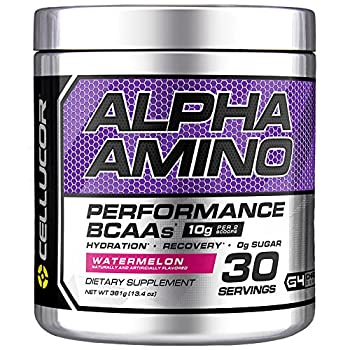 Cellucor Alpha Amino EAA & BCAA Powder   Branched Chain Essential Amino Acids + Electrolytes   Watermelon   30 Servings