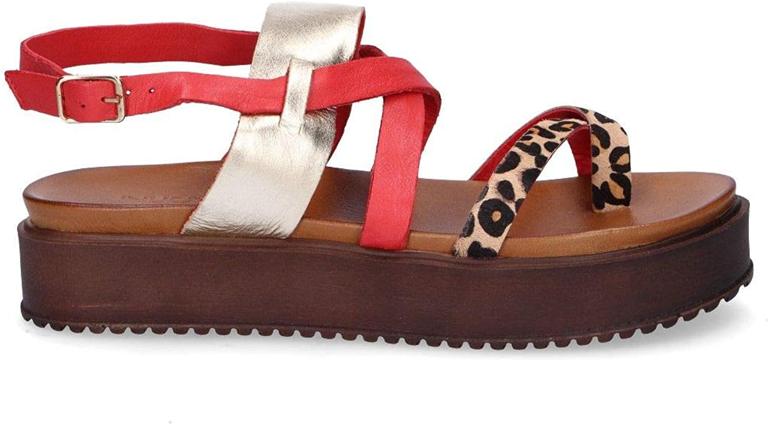 Inuovo Women's 7159RED Red Leather Sandals