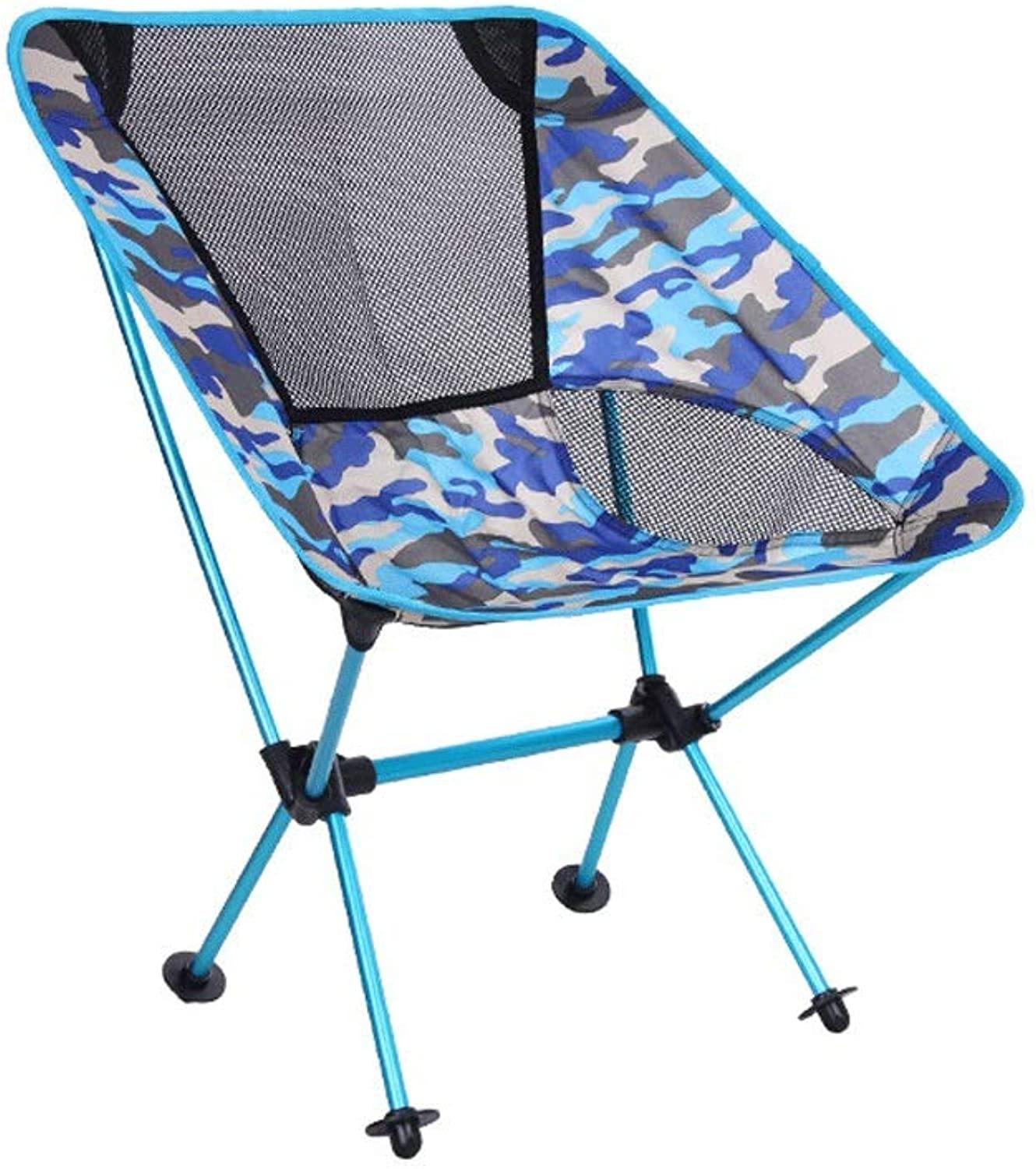 AQnice Portable Camping Chair with Storage Bag Compact Ultralight Folding Backpacking Chairs in a Carry Bag, Heavy Duty 150Kg Capacity Hiker, Camp, Beach, Outdoor (color   C)