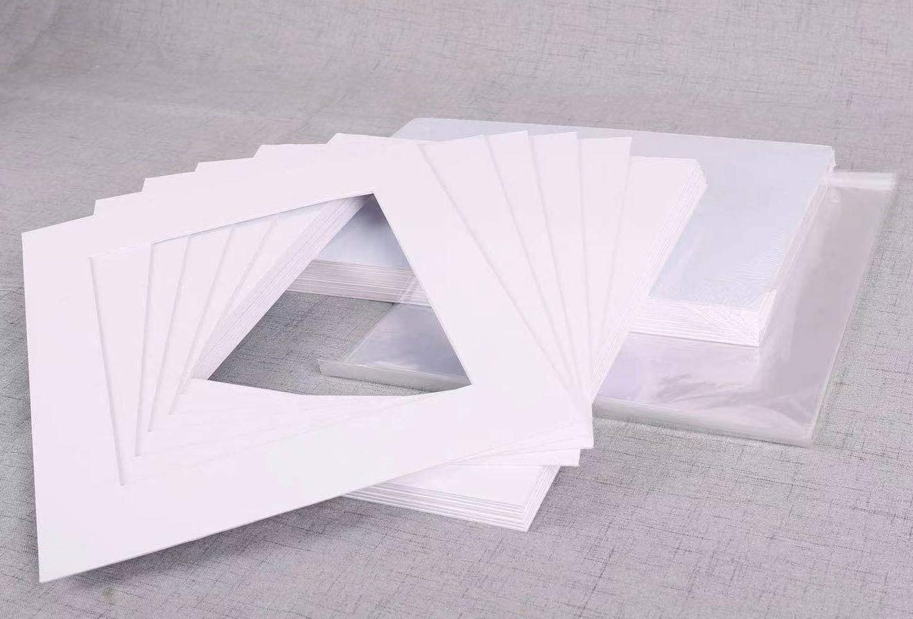 A Plus Great interest Max. 20x24 inches Our shop OFFers the best service White + Backing Clear Mat Board
