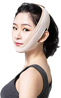 Jia Jia- シンフェイスアーティファクトVフェイスタイトリフティングフェイスリフトシンダブルチン男性と女性フェイス包帯マスク 顔面包帯