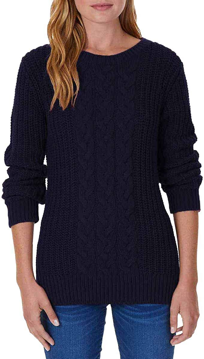 Max 40% OFF Nautica Women's Single Cable Sweater Knit 2021 autumn and winter new Tunic