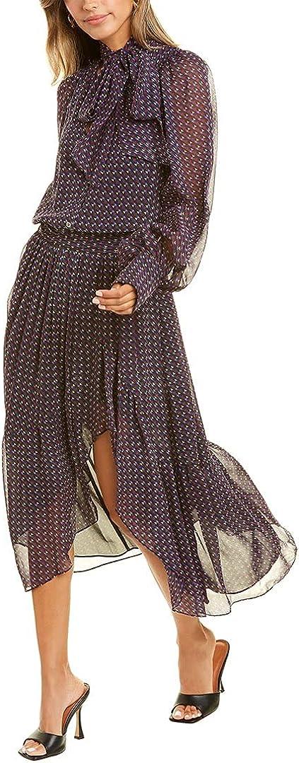 Ramy Brook Women's Geo Print Rita Long Sleeve Midi Dress
