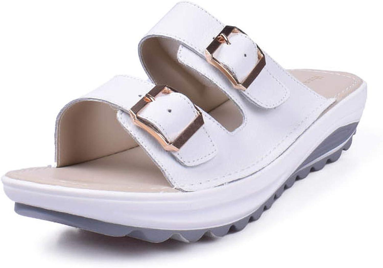 ZHOUZJ Glitter Sandals Platform Comfortable Sandals Lady Wedges Sandals Flip Flops Summer Waterproof shoes Women Beach Slipper
