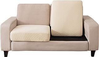 C/N Funda de cojín Asiento para sofá elástica 1 Plaza Fundas para sofá Cojines Cubre Sofa Cojines de Asiento Protectora para sofá Fundas de Sillón Asientos Amarillo Queso