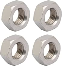 uxcell 4pcs M14 x 1.5mm Pitch Metric Fine Thread 304 Stainless Steel Hex Nuts