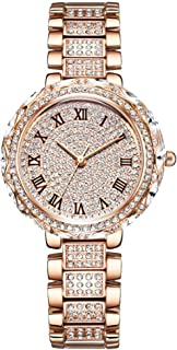 Women/Men's Analog Fashion Gold/Silver/Rose Golden Watch Stainless Steel Band Round Luxury Mens Watch