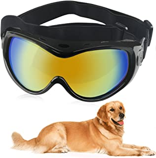 HelloPet Dog Goggles Dog Sunglasses Glasses for Dogs Dog Ski Goggles with UV Protection Pet Sunglasses with Adjustable Strap for Travel, Skiing and Anti-Fog