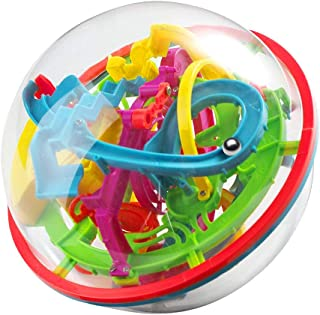 WETONG Maze Ball Game 3D Intellect Ball with 100 Challenging Barriers 3D Labyrinth Ball for Kids 3D Puzzle Toy Magical Maze Ball Brain Teasers Puzzle Ball