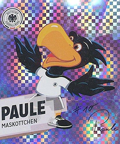 GLITZER KARTE / REWE DFB WM 2014 Paule Maskottchen Nr. 34 / 34 Sammelkarte Sticker