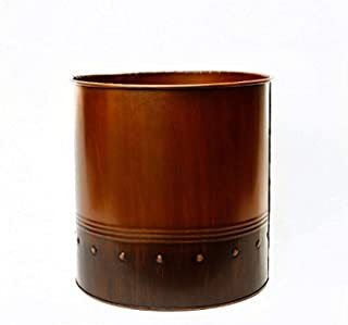 """CYS Zinc Rustic Metal Cup Planter, 12"""""""